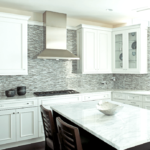 non traditional Glass mosaic tile for kitchen and bathroom remodel