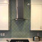 non traditional glass tile for kitchen back splash remodel
