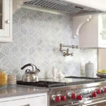 non traditional patterned tile for kitchen and bathroom