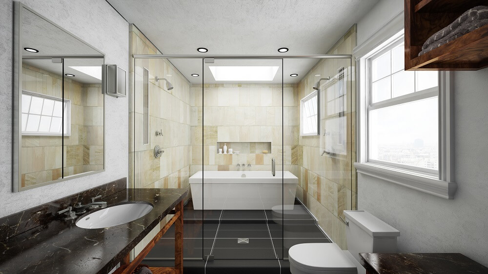 Water Space Bathroom Design | RamGo Remodeling home and bathroom remodeling contractors | Serving Frisco, Prosper, The Colony, Prosper, Celina, Plano and all North Dallas | 75034