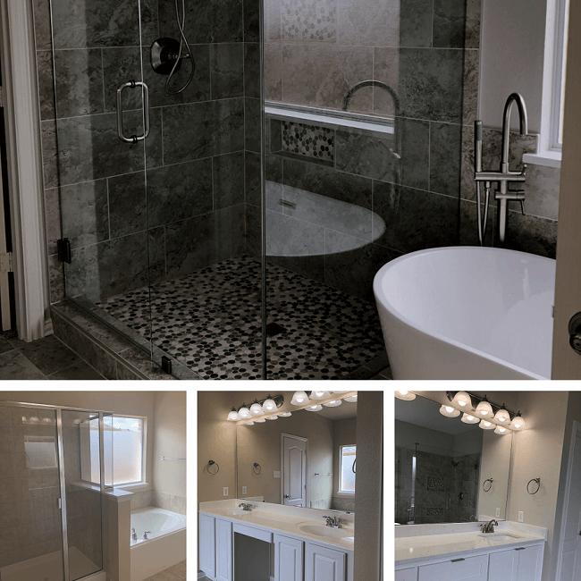 modern bathroom upgrade frisco, tx